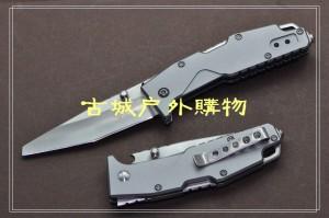 三刃木多用刀背锁救生工具刀LG-788