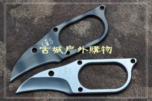 翠鸟项链刀D2钢小爪子带K鞘(虎纹/石洗)