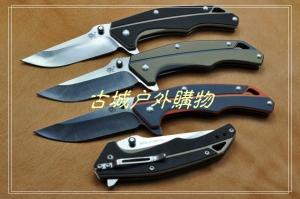 三刃木2014新款-双色G10线锁刀7076LUX