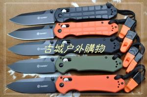 关铸GANZO G7453轴锁G10黑钛折刀
