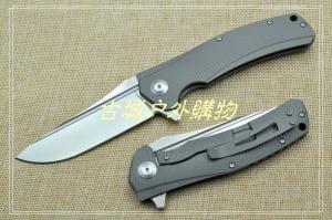 特价-亚特兰大获奖Horizon-Ti地平线双面钛轴承快开钢锁D2折刀