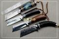 手工锻打檀木柄北欧高硬度捶打918钢猎刀
