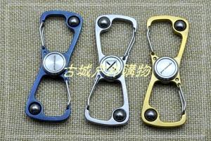 不锈钢8字挂扣,指尖螺旋EDC,手指陀螺,指间陀螺,Torqbar,静音轴承